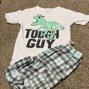 Dinosaur tough guy outfit 5t